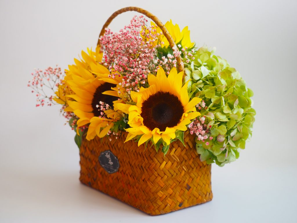 Brigitte - Lush and Love (Fresh Sun Flower in basket) - 02