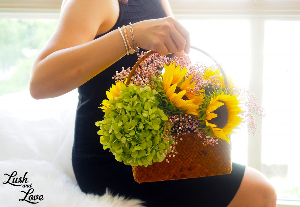 Brigitte - Lush and Love (Fresh Sun Flower in basket) - 04