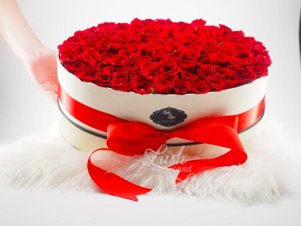 99 Roses Box - Lush and Love (Singapore) 2