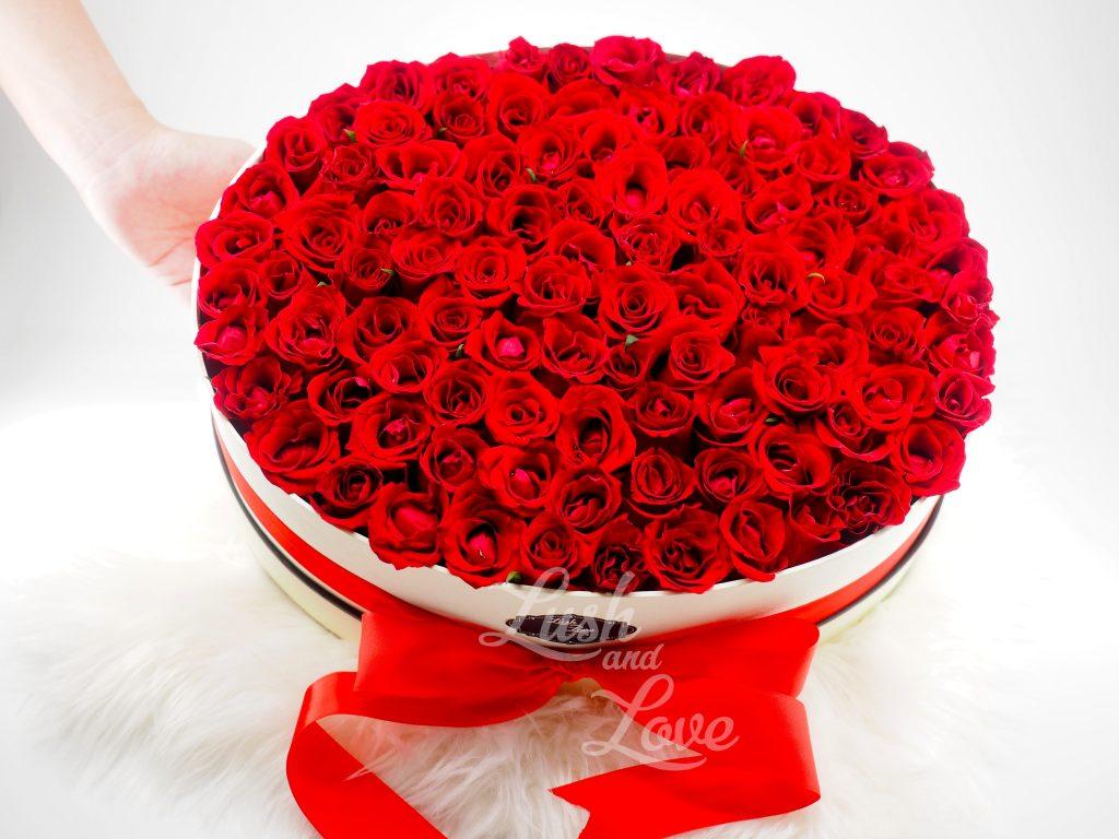 99 Roses Box - Lush and Love (Singapore) -3