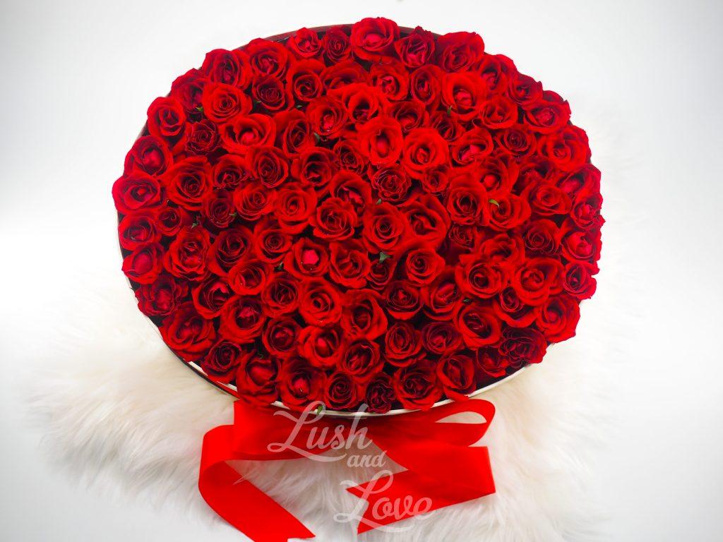 99 Roses Box - Lush and Love (Singapore) -4