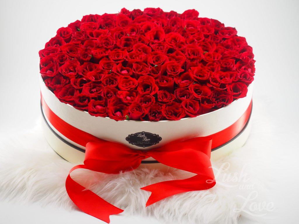99 Roses Box - Lush and Love (Singapore) -6